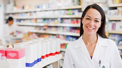 pharmacy technician woman smiling