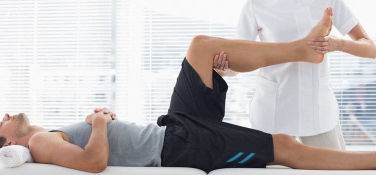 Man taking Sports Massage therapy