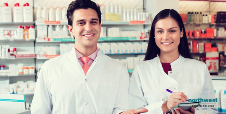 Male and female Pharmacy Technician