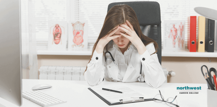 A Stressed Medical Admin Assistant