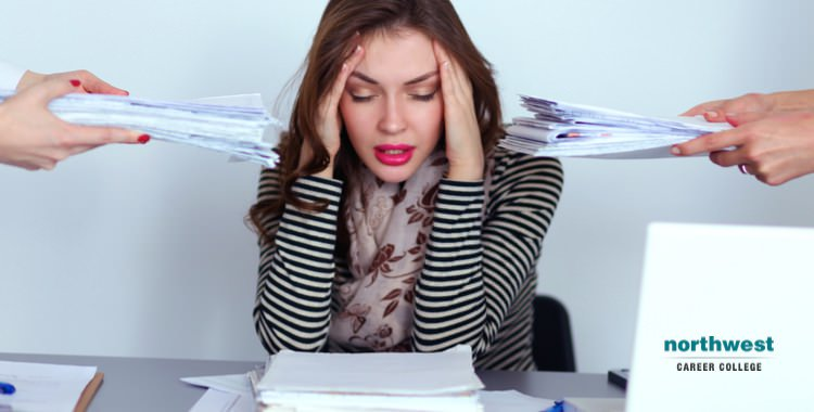An Woman working in Chronic Stress