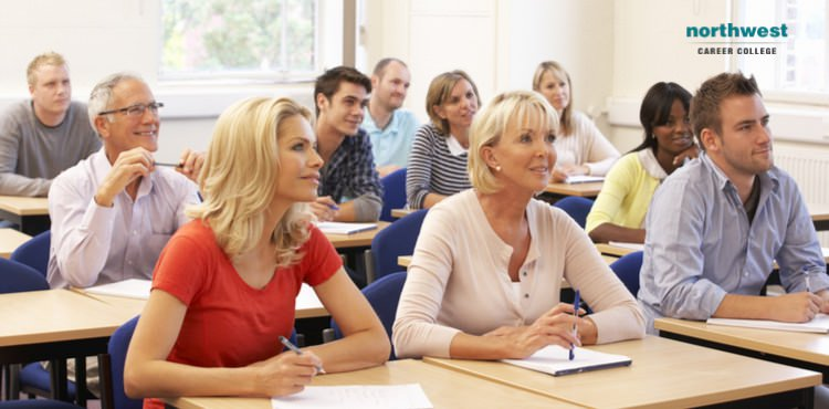 Adult Students attending class.