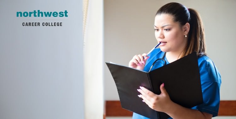 Medical Assistant reading clinical report