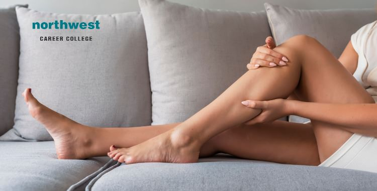 massaging legs due to Tight Muscles