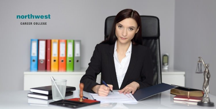 Legal Assistant working at office