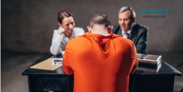 Probation Officer prisoner in interrogation room