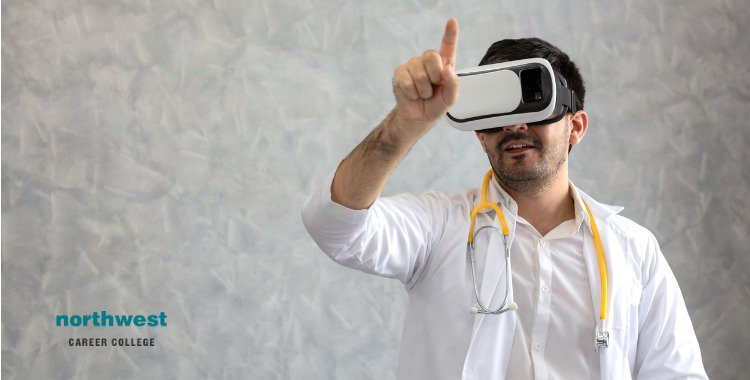 doctor and virtual reality glasses
