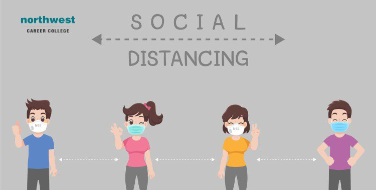 people keeping distance for infection risk