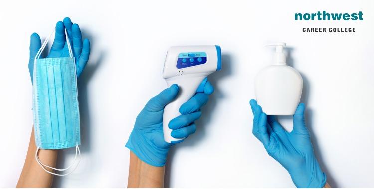 gloves masks sanitizers
